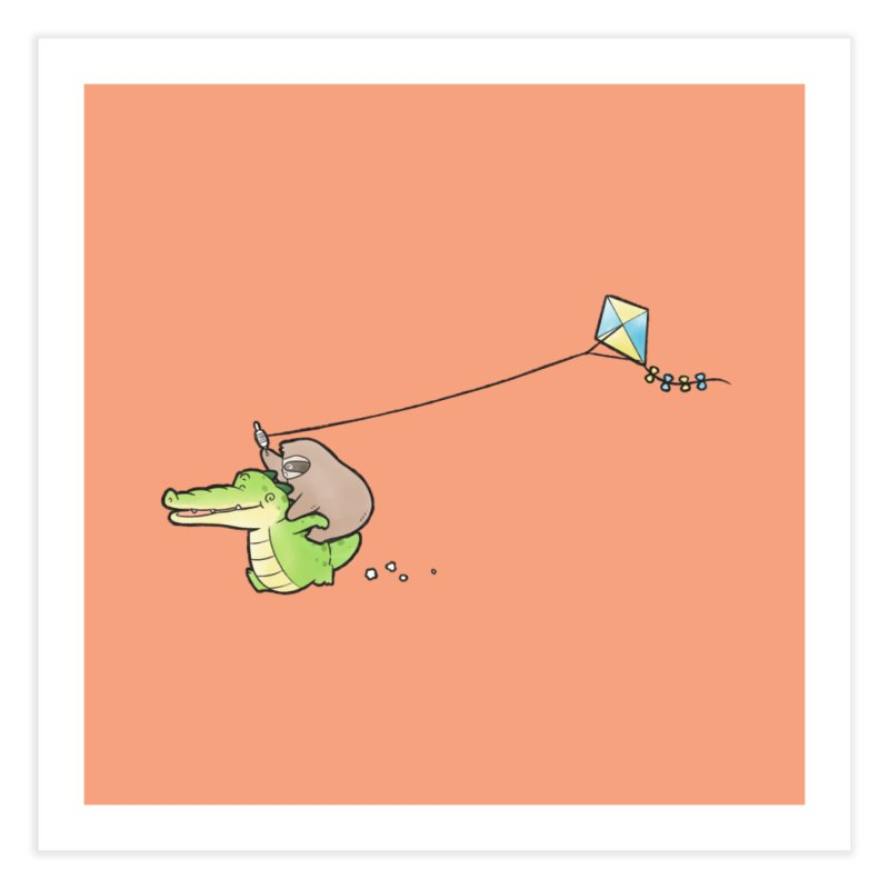 Buddy Gator, Sloth - Fly A Kite Home Fine Art Print by Buddy Gator's Artist Shop