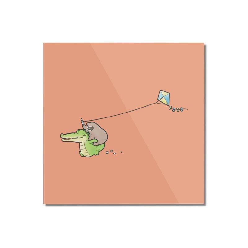 Buddy Gator, Sloth - Fly A Kite Home Mounted Acrylic Print by Buddy Gator's Artist Shop