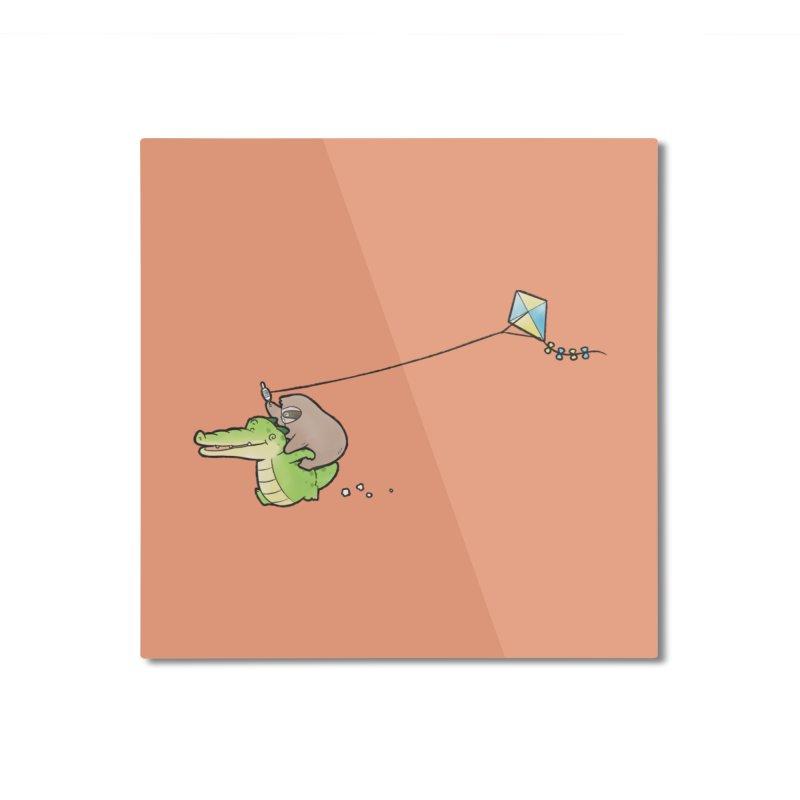 Buddy Gator, Sloth - Fly A Kite Home Mounted Aluminum Print by Buddy Gator's Artist Shop