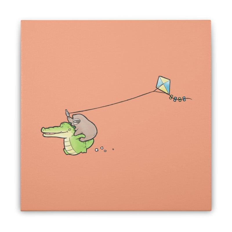 Buddy Gator, Sloth - Fly A Kite Home Stretched Canvas by Buddy Gator's Artist Shop