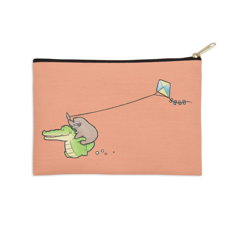 Buddy Gator, Sloth - Fly A Kite Accessories Zip Pouch by Buddy Gator's Artist Shop