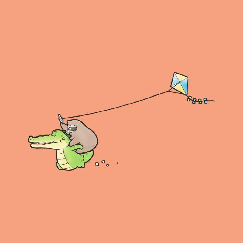 Buddy Gator, Sloth - Fly A Kite Accessories Greeting Card by Buddy Gator's Artist Shop