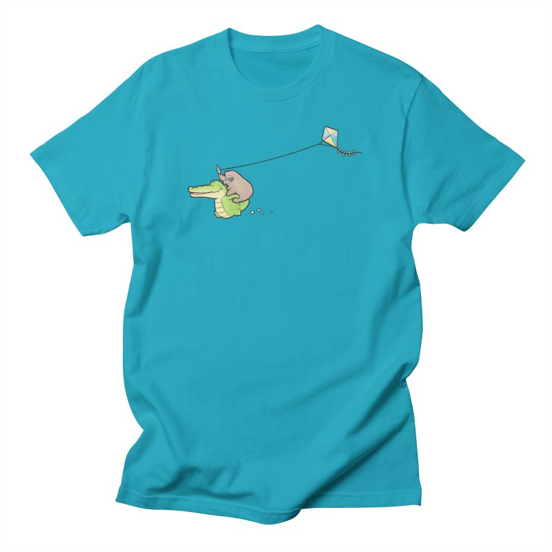 Buddy Gator, Sloth - Fly A Kite Men's T-Shirt by Buddy Gator's Artist Shop
