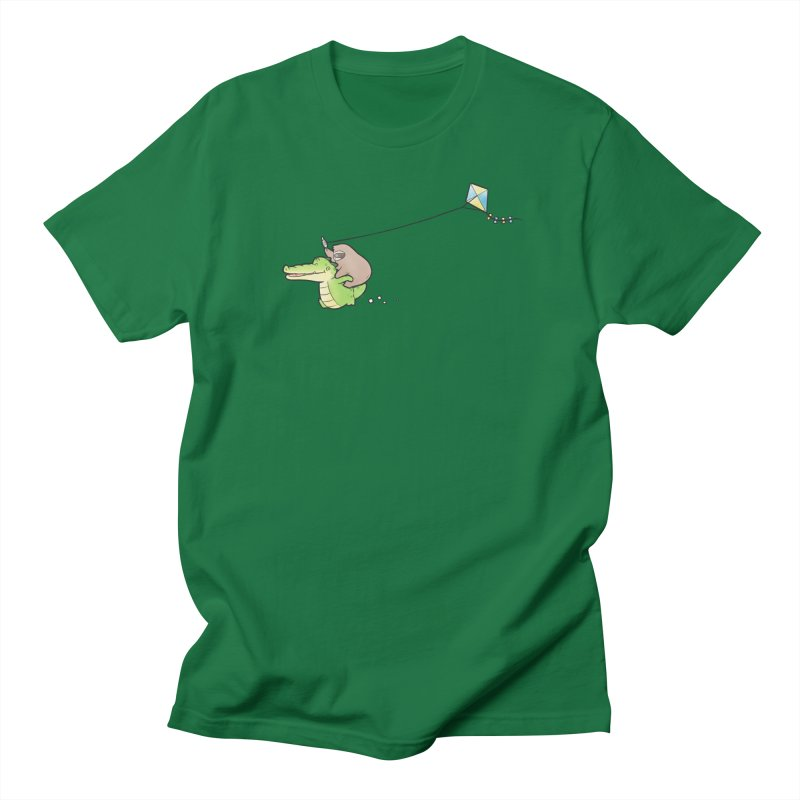 Buddy Gator, Sloth - Fly A Kite Men's T-Shirt by Buddy Gator's Artist Shop