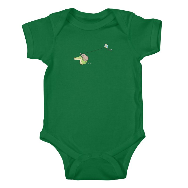 Buddy Gator, Sloth - Fly A Kite Kids Baby Bodysuit by Buddy Gator's Artist Shop