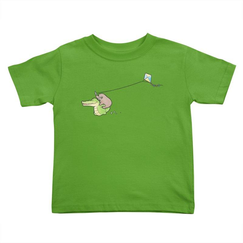 Buddy Gator, Sloth - Fly A Kite Kids Toddler T-Shirt by Buddy Gator's Artist Shop