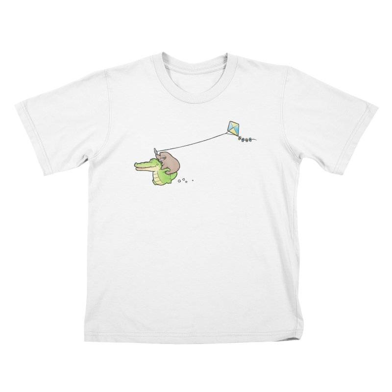 Buddy Gator, Sloth - Fly A Kite Kids T-Shirt by Buddy Gator's Artist Shop