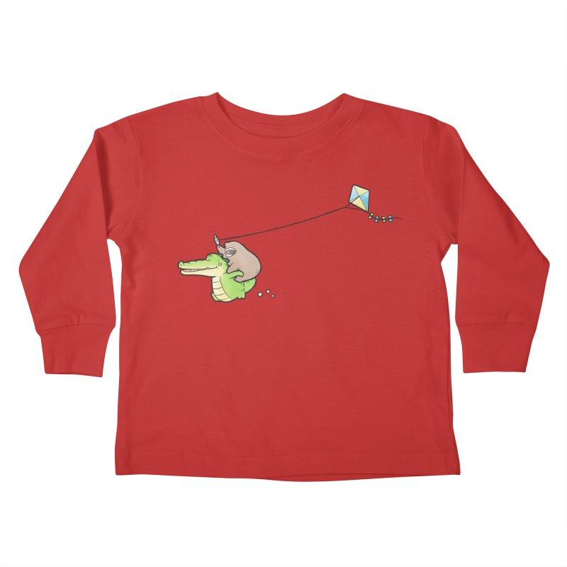Buddy Gator, Sloth - Fly A Kite Kids Toddler Longsleeve T-Shirt by Buddy Gator's Artist Shop