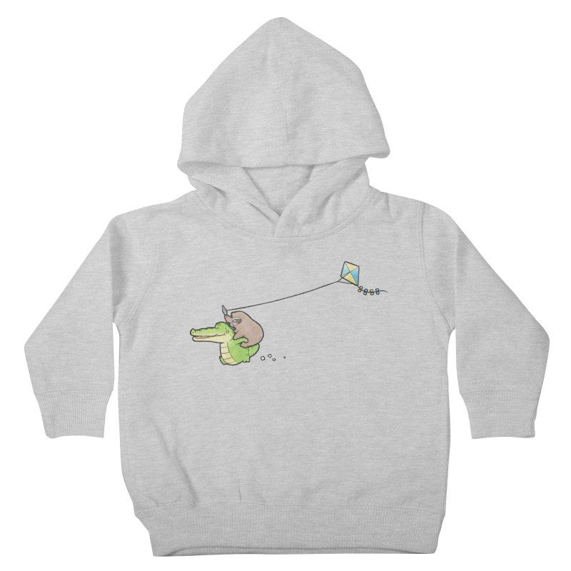 Buddy Gator, Sloth - Fly A Kite Kids Toddler Pullover Hoody by Buddy Gator's Artist Shop