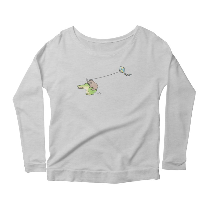 Buddy Gator, Sloth - Fly A Kite Women's Longsleeve T-Shirt by Buddy Gator's Artist Shop