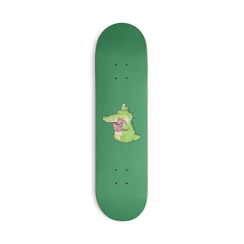 Buddy Gator - Reading Time Accessories Skateboard by Buddy Gator's Artist Shop