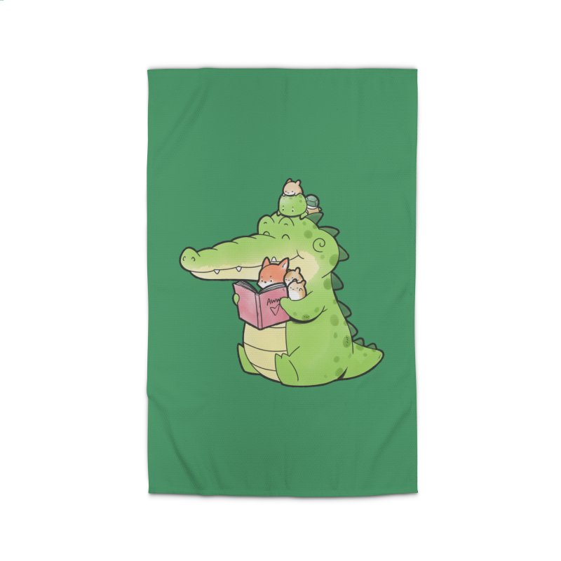 Buddy Gator - Reading Time Home Rug by Buddy Gator's Artist Shop