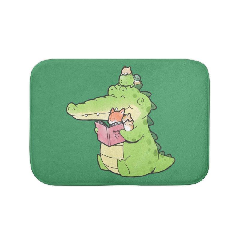 Buddy Gator - Reading Time Home Bath Mat by Buddy Gator's Artist Shop