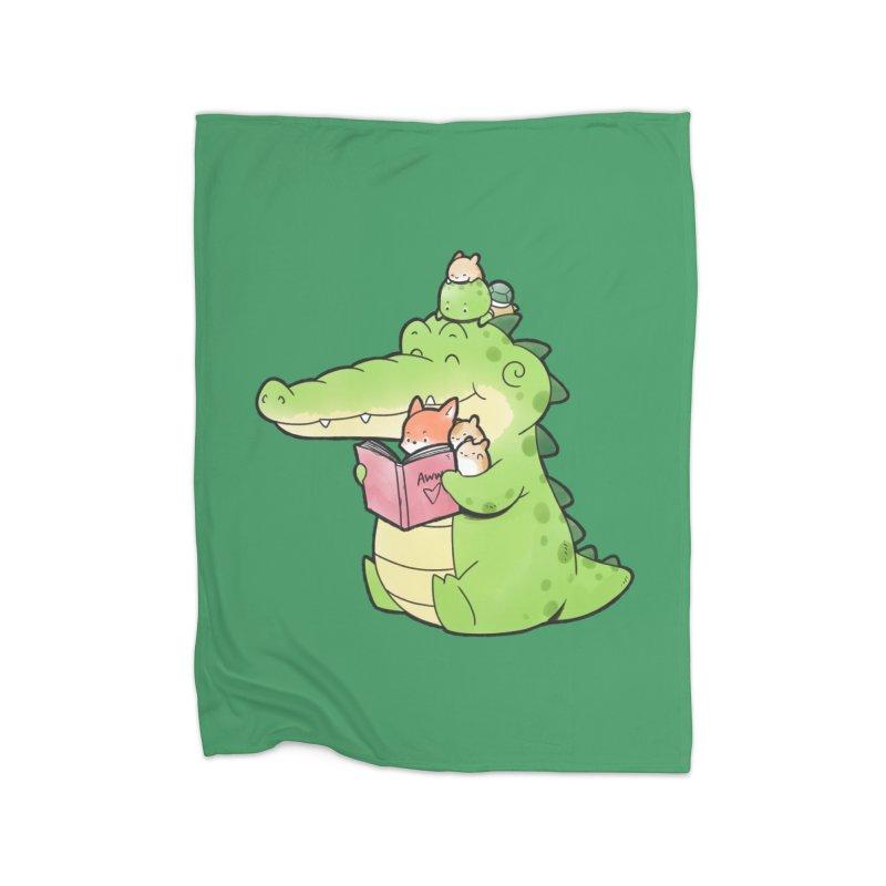 Buddy Gator - Reading Time Home Blanket by Buddy Gator's Artist Shop