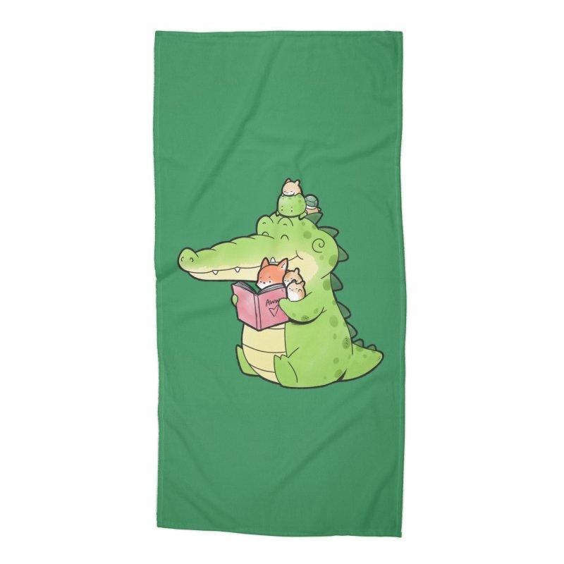 Buddy Gator - Reading Time Accessories Beach Towel by Buddy Gator's Artist Shop