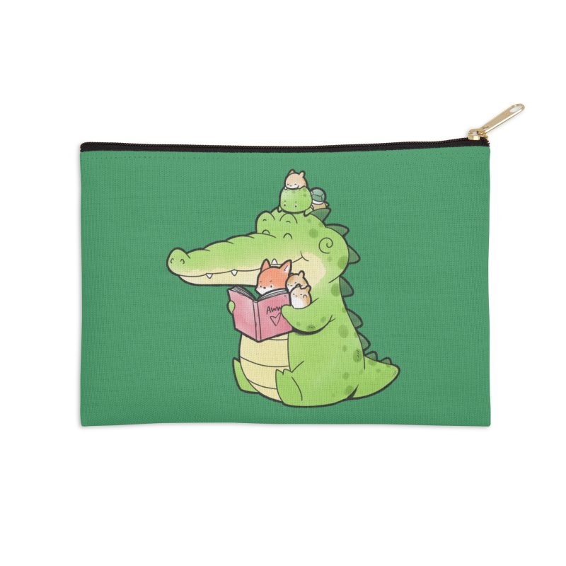 Buddy Gator - Reading Time Accessories Zip Pouch by Buddy Gator's Artist Shop