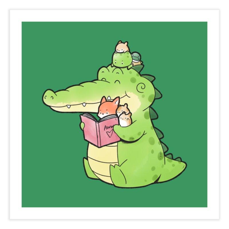 Buddy Gator - Reading Time Home Fine Art Print by Buddy Gator's Artist Shop