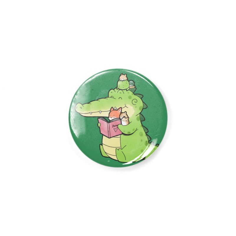 Buddy Gator - Reading Time Accessories Button by Buddy Gator's Artist Shop