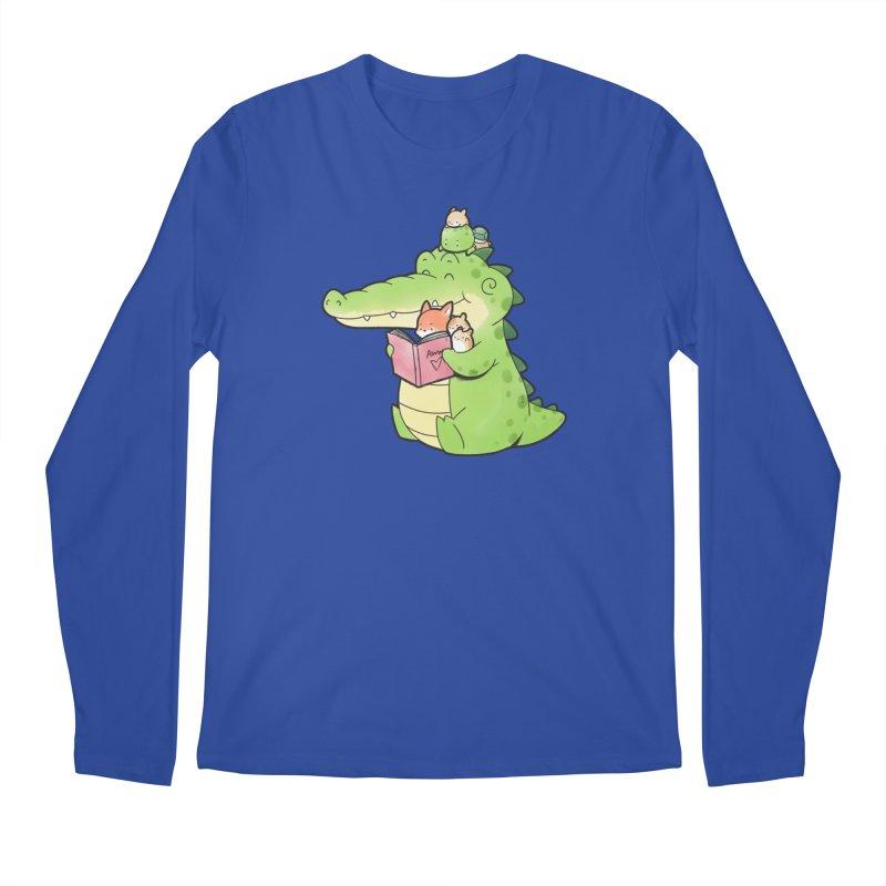 Buddy Gator - Reading Time Men's Longsleeve T-Shirt by Buddy Gator's Artist Shop