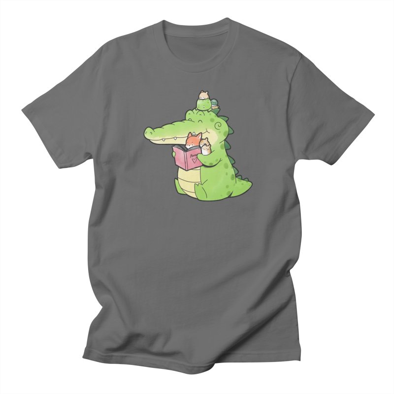 Buddy Gator - Reading Time Men's T-Shirt by Buddy Gator's Artist Shop