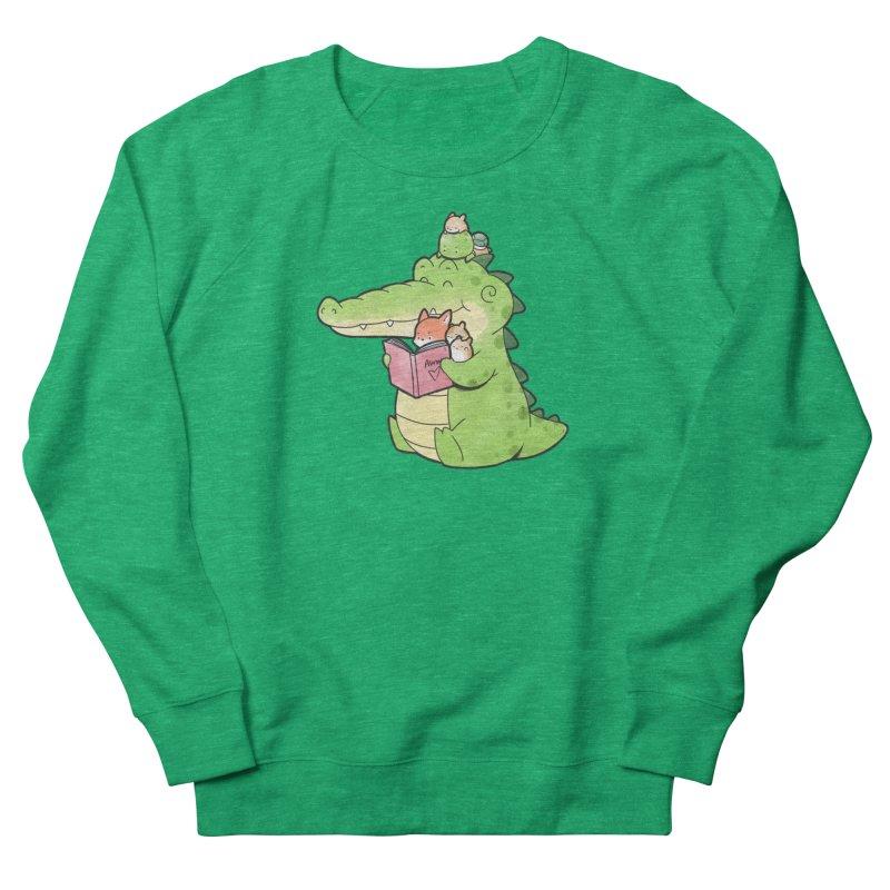Buddy Gator - Reading Time Men's Sweatshirt by Buddy Gator's Artist Shop