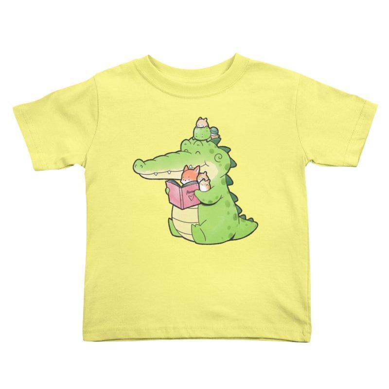 Buddy Gator - Reading Time Kids Toddler T-Shirt by Buddy Gator's Artist Shop