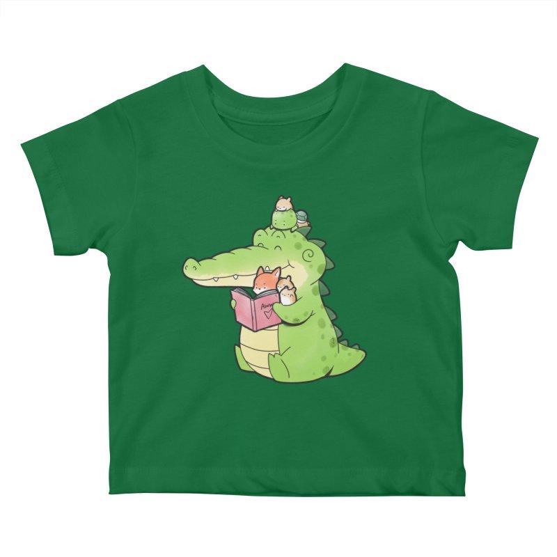 Buddy Gator - Reading Time Kids Baby T-Shirt by Buddy Gator's Artist Shop