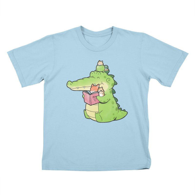 Buddy Gator - Reading Time Kids T-Shirt by Buddy Gator's Artist Shop