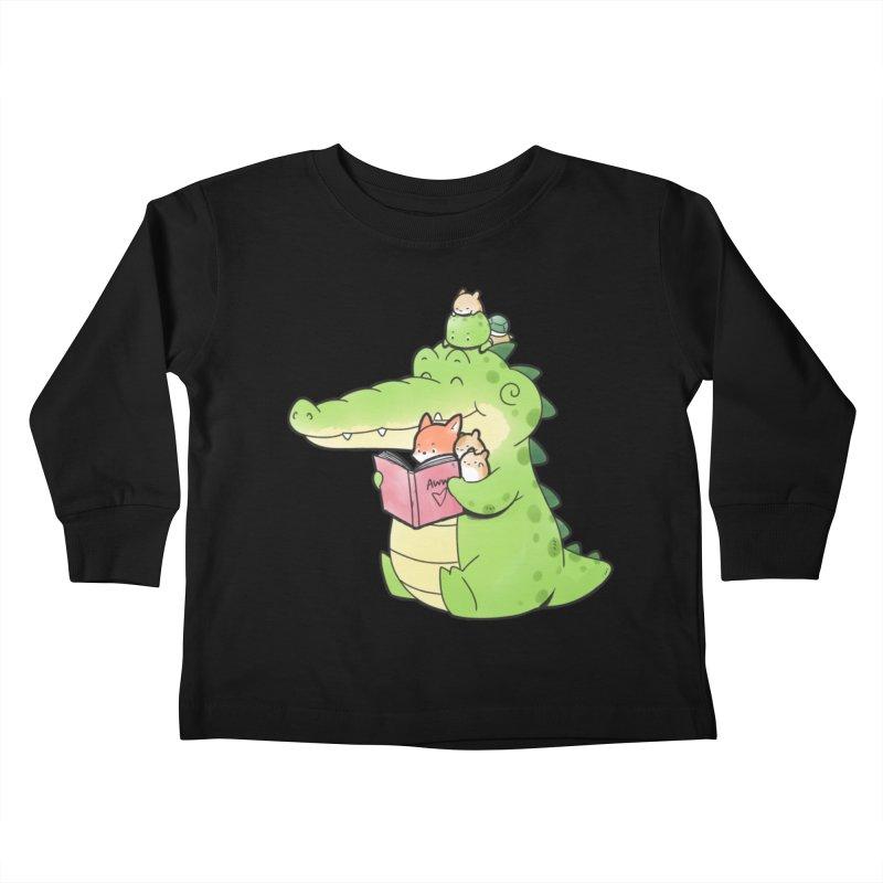 Buddy Gator - Reading Time Kids Toddler Longsleeve T-Shirt by Buddy Gator's Artist Shop
