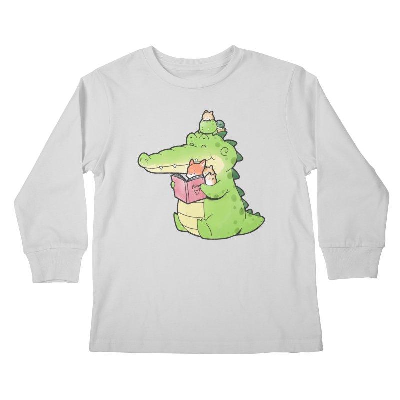 Buddy Gator - Reading Time Kids Longsleeve T-Shirt by Buddy Gator's Artist Shop