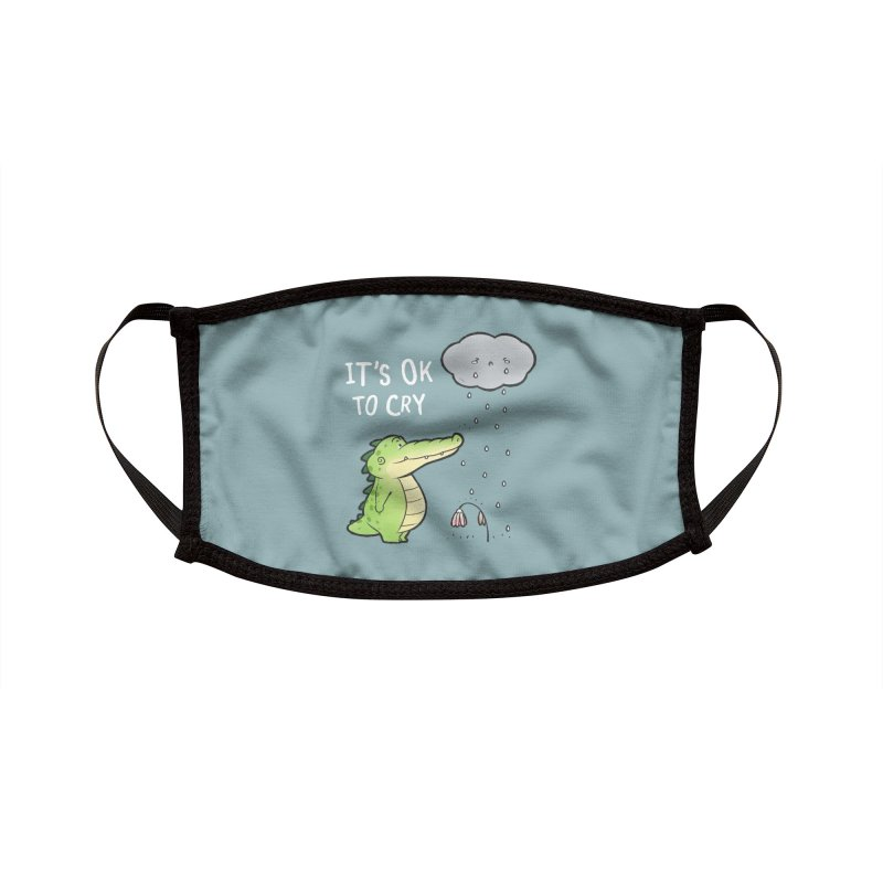Buddy Gator - It's Ok To Cry, Cloud Accessories Face Mask by Buddy Gator's Artist Shop