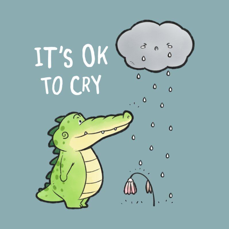 Buddy Gator - It's Ok To Cry, Cloud Men's T-Shirt by Buddy Gator's Artist Shop