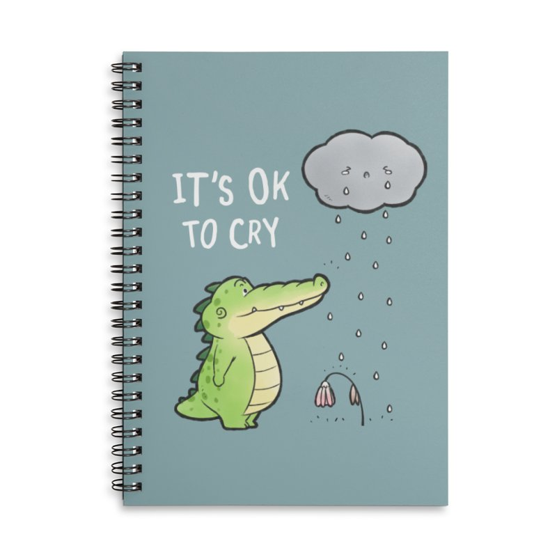 Buddy Gator - It's Ok To Cry, Cloud Accessories Notebook by Buddy Gator's Artist Shop