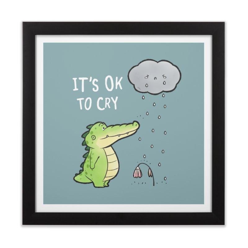 Buddy Gator - It's Ok To Cry, Cloud Home Framed Fine Art Print by Buddy Gator's Artist Shop