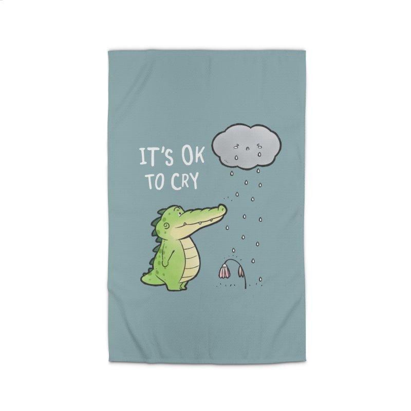 Buddy Gator - It's Ok To Cry, Cloud Home Rug by Buddy Gator's Artist Shop
