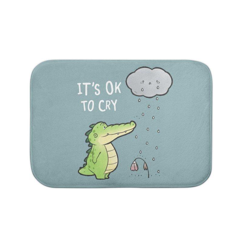 Buddy Gator - It's Ok To Cry, Cloud Home Bath Mat by Buddy Gator's Artist Shop