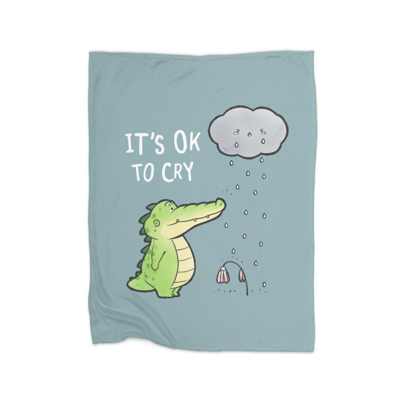 Buddy Gator - It's Ok To Cry, Cloud Home Blanket by Buddy Gator's Artist Shop