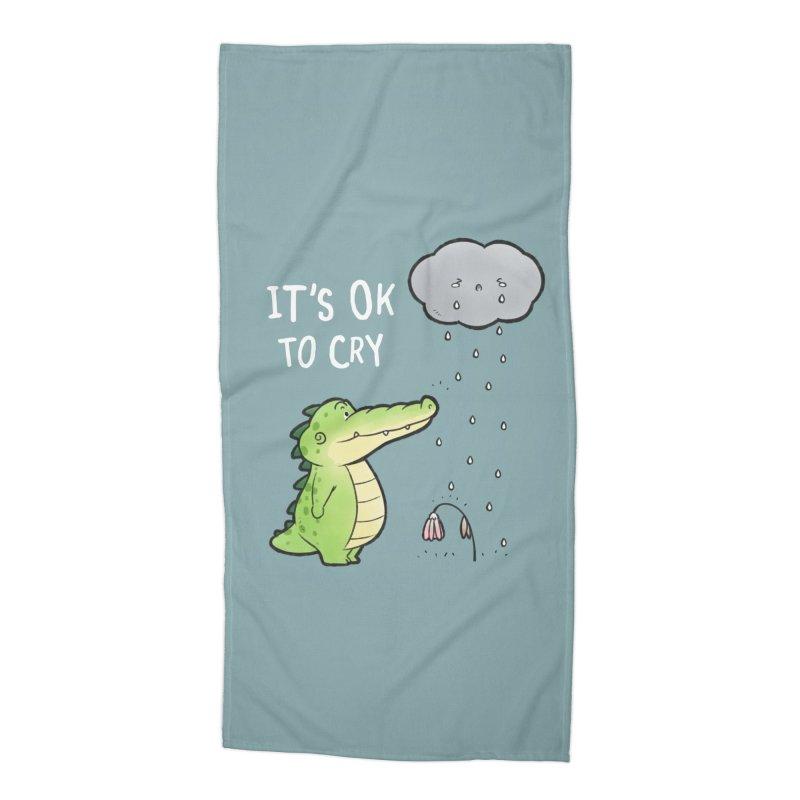 Buddy Gator - It's Ok To Cry, Cloud Accessories Beach Towel by Buddy Gator's Artist Shop