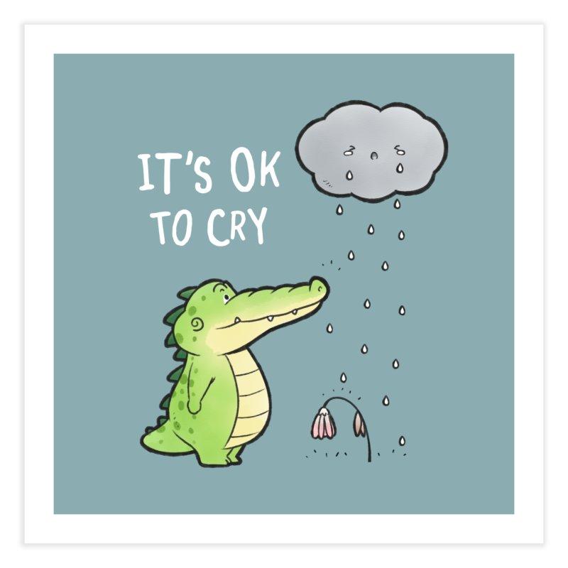 Buddy Gator - It's Ok To Cry, Cloud Home Fine Art Print by Buddy Gator's Artist Shop