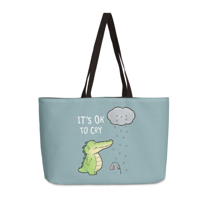 Buddy Gator - It's Ok To Cry, Cloud Accessories Bag by Buddy Gator's Artist Shop