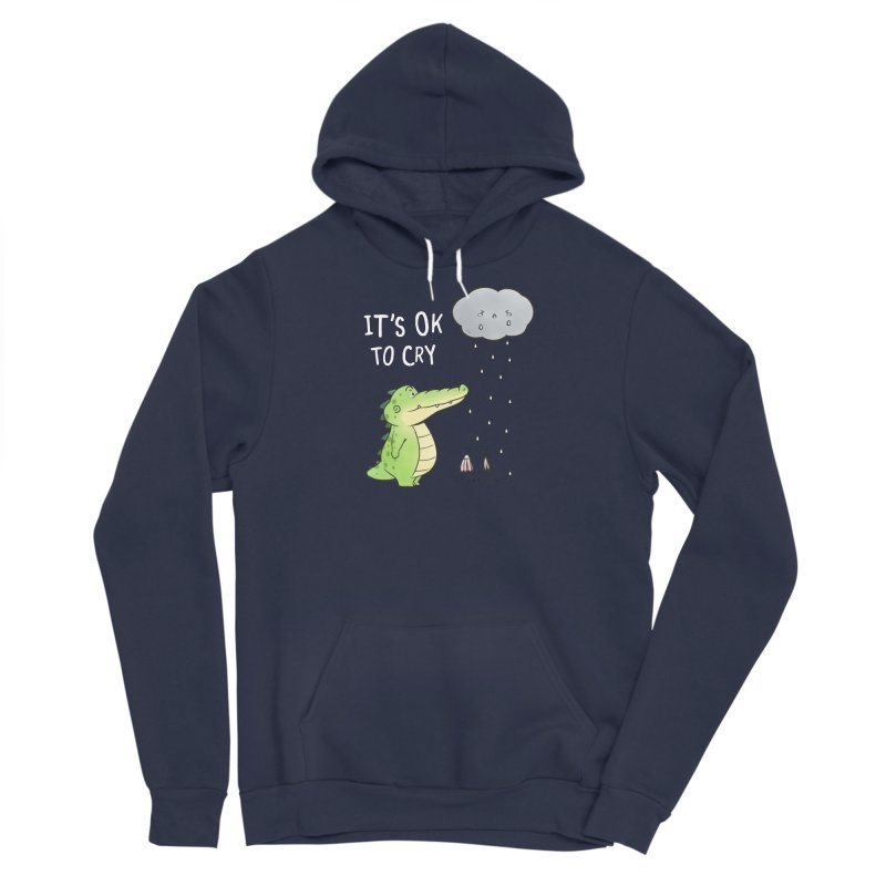 Buddy Gator - It's Ok To Cry, Cloud Women's Pullover Hoody by Buddy Gator's Artist Shop