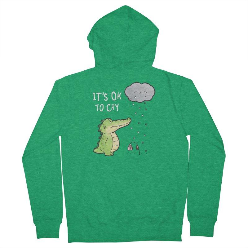 Buddy Gator - It's Ok To Cry, Cloud Men's Zip-Up Hoody by Buddy Gator's Artist Shop