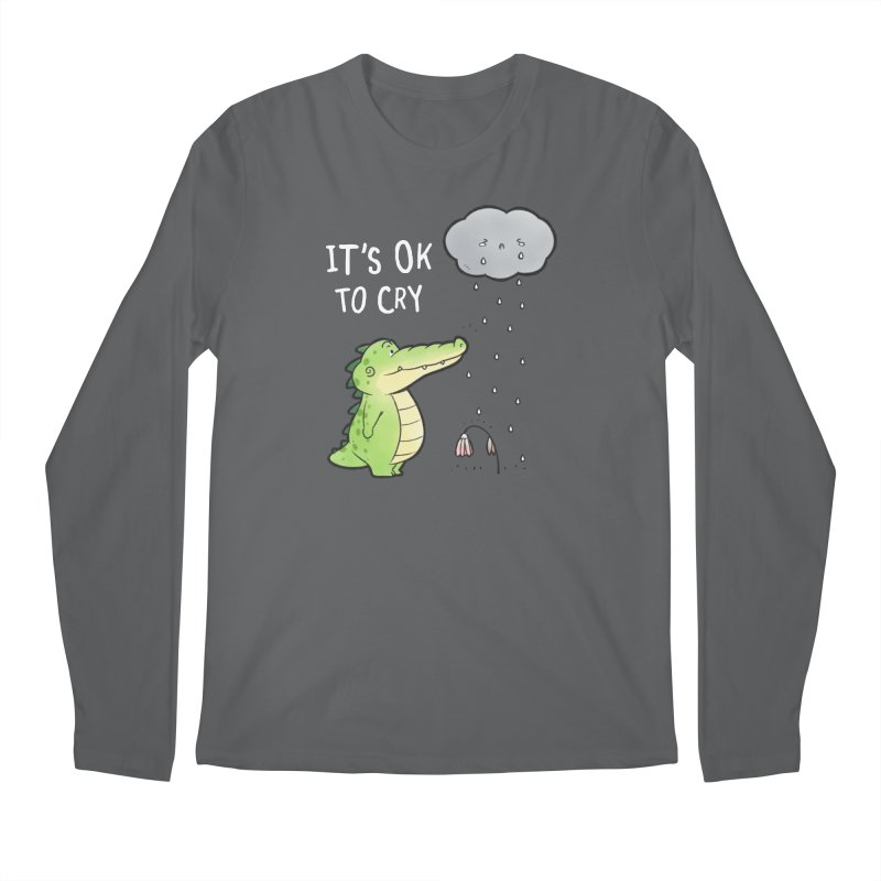 Buddy Gator - It's Ok To Cry, Cloud Men's Longsleeve T-Shirt by Buddy Gator's Artist Shop