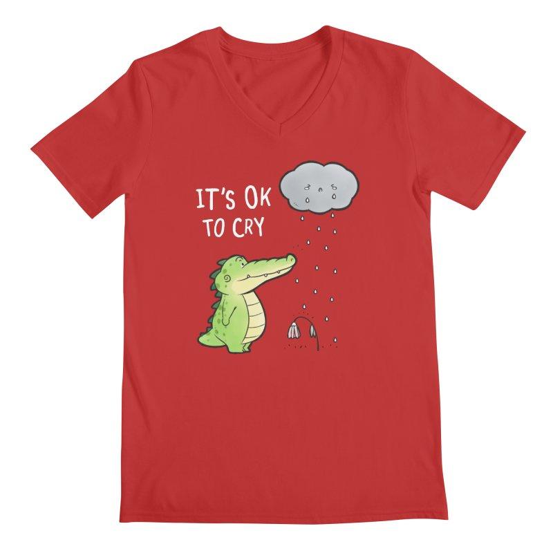 Buddy Gator - It's Ok To Cry, Cloud Men's V-Neck by Buddy Gator's Artist Shop
