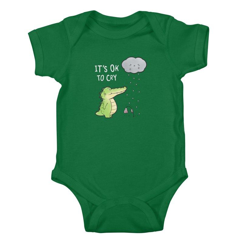Buddy Gator - It's Ok To Cry, Cloud Kids Baby Bodysuit by Buddy Gator's Artist Shop