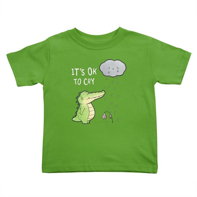 Buddy Gator - It's Ok To Cry, Cloud Kids Toddler T-Shirt by Buddy Gator's Artist Shop