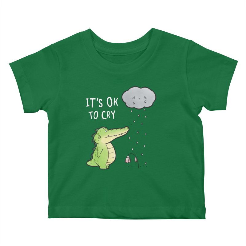 Buddy Gator - It's Ok To Cry, Cloud Kids Baby T-Shirt by Buddy Gator's Artist Shop