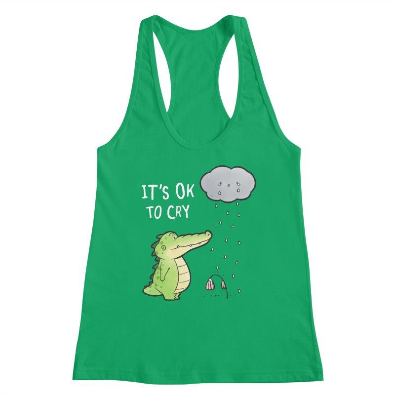 Buddy Gator - It's Ok To Cry, Cloud Women's Tank by Buddy Gator's Artist Shop