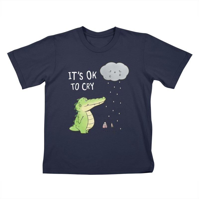 Buddy Gator - It's Ok To Cry, Cloud Kids T-Shirt by Buddy Gator's Artist Shop