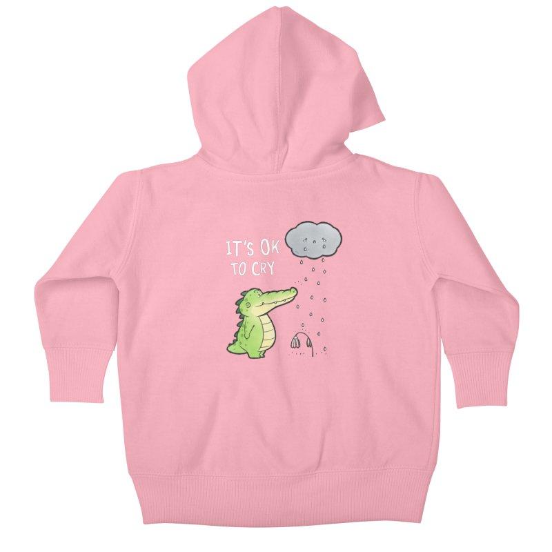 Buddy Gator - It's Ok To Cry, Cloud Kids Baby Zip-Up Hoody by Buddy Gator's Artist Shop
